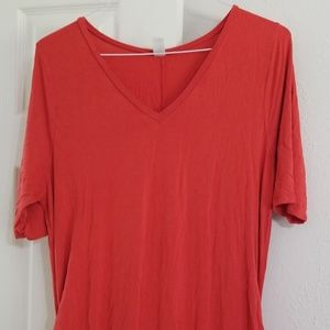 Old navy maternity orange dress